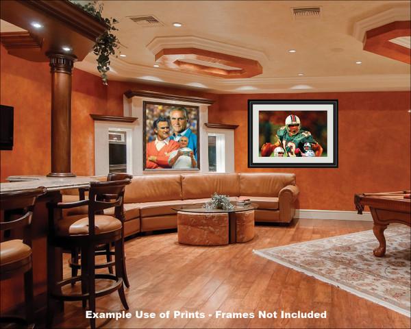 Don Shula Miami Dolphins Head Coach NFL Football Art Print 2520 AM3 8x10-48x36