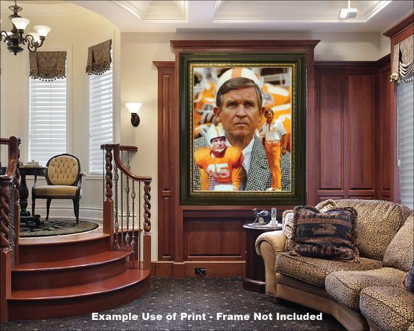 Coach Johnny Majors Tennessee Vols NCAA College Football 2510 Art Print