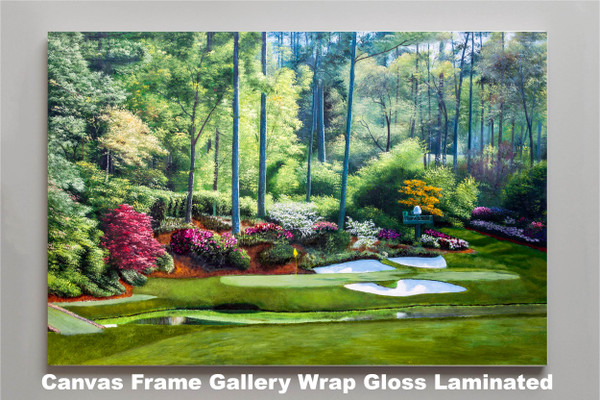 Augusta National Golf Club, Masters Tournament Hole 12 Golden Bell golf course oil painting 2550  Art Print canvas frame gallery wrapped