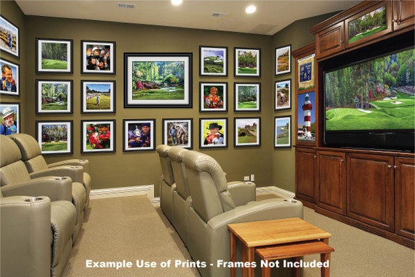 Augusta National Golf Club, Masters Tournament Hole 12 Golden Bell golf course oil painting 2550  Art Print media room example