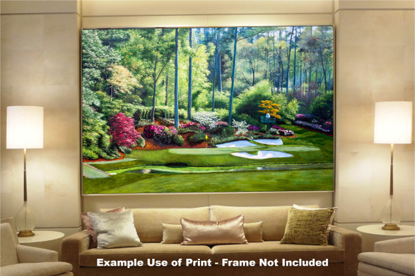 Augusta National Golf Club, Masters Tournament Hole 12 Golden Bell golf course oil painting 2550  Art Print available as huge canvas frame in living room