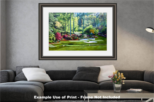 Augusta National Golf Club, Masters Tournament Hole 12 Golden Bell golf course oil painting 2550  Art Print modern living room example