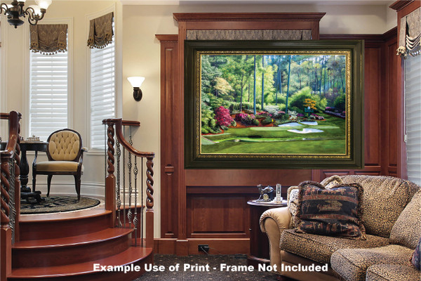 Augusta National Golf Club, Masters Tournament Hole 12 Golden Bell golf course oil painting 2550  Art Print luxury room example