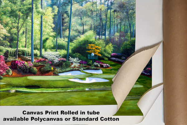 Augusta National Golf Club, Masters Tournament Hole 12 Golden Bell golf course oil painting 2550  Art Print available as canvas rolled