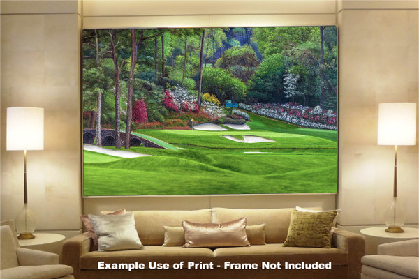 Augusta National Golf Club, Masters Tournament Hole 12 Golden Bell golf course oil painting 2560  Art Print available as huge canvas frame in living room