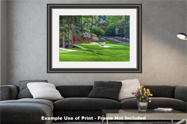 Augusta National Golf Club, Masters Tournament Hole 12 Golden Bell golf course oil painting 2560  Art Print modern living room example