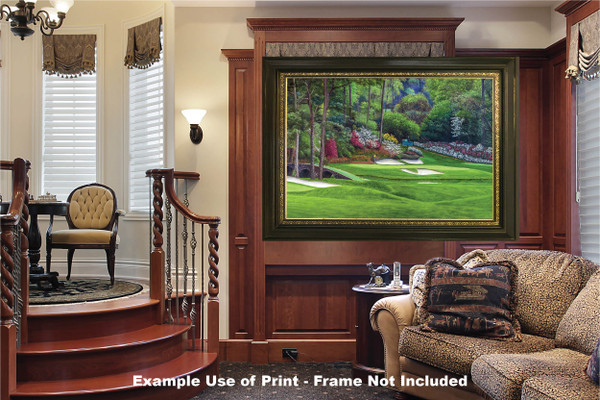 Augusta National Golf Club, Masters Tournament Hole 12 Golden Bell golf course oil painting 2560  Art Print luxury room example