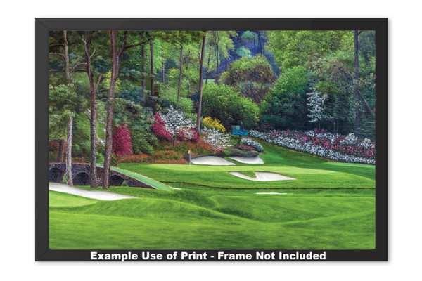Augusta National Golf Club, Masters Tournament Hole 12 Golden Bell golf course oil painting 2560  Art Print framed example