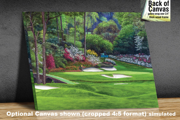 Augusta National Golf Club, Masters Tournament Hole 12 Golden Bell golf course oil painting 2560  Art Print available as canvas frame