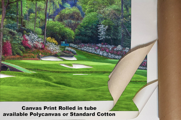 Augusta National Golf Club, Masters Tournament Hole 12 Golden Bell golf course oil painting 2560  Art Print available as canvas rolled