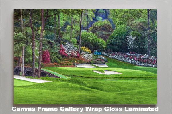 Augusta National Golf Club, Masters Tournament Hole 12 Golden Bell golf course oil painting 2560  Art Print canvas frame gallery wrapped