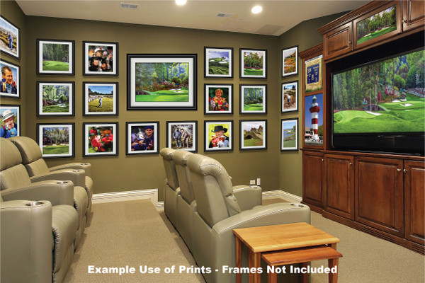 Augusta National Golf Club, Masters Tournament Hole 12 Golden Bell golf course oil painting 2570 Art Print media room example