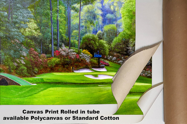Augusta National Golf Club, Masters Tournament Hole 12 Golden Bell golf course oil painting 2570 Art Print available as canvas rolled