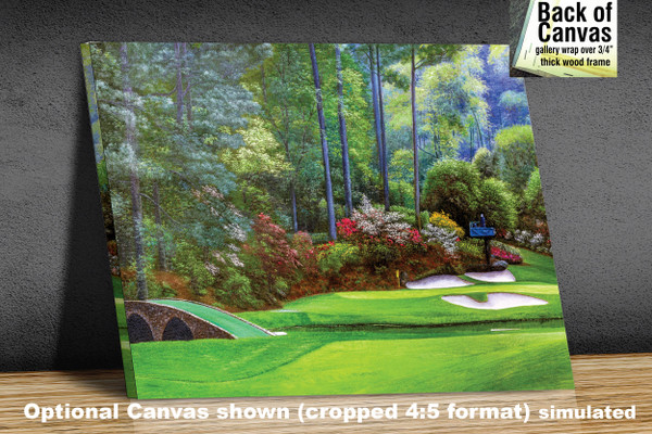 Augusta National Golf Club, Masters Tournament Hole 12 Golden Bell golf course oil painting 2570 Art Print available as canvas frame