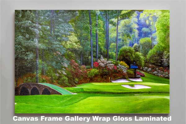 Augusta National Golf Club, Masters Tournament Hole 12 Golden Bell golf course oil painting 2570 Art Print canvas frame gallery wrapped