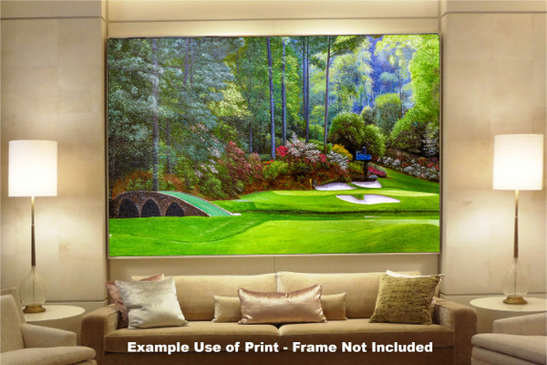 Augusta National Golf Club, Masters Tournament Hole 12 Golden Bell golf course oil painting 2570 Art Print available as huge canvas frame in living room