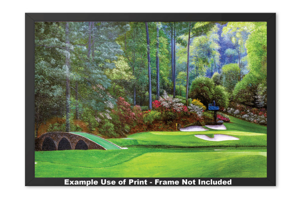 Augusta National Golf Club, Masters Tournament Hole 12 Golden Bell golf course oil painting 2570 Art Print framed example