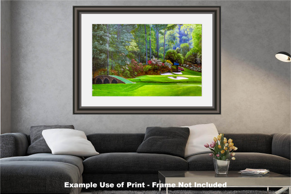 Augusta National Golf Club, Masters Tournament Hole 12 Golden Bell golf course oil painting 2570 Art Print modern living room example