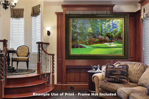 Augusta National Golf Club, Masters Tournament Hole 12 Golden Bell golf course oil painting 2570 Art Print luxury room example