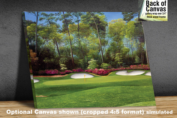 Augusta National Golf Club Masters Tournament Hole 13 Magnolia golf course oil painting art print 2550 Art Print available as canvas frame