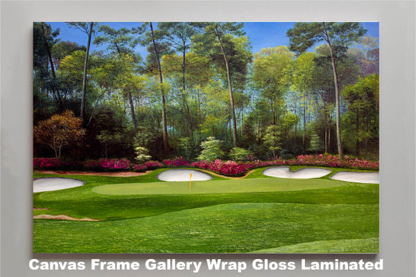 Augusta National Golf Club Masters Tournament Hole 13 Magnolia golf course oil painting art print 2550 Art Print canvas frame gallery wrapped