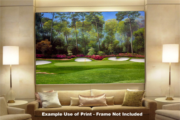 Augusta National Golf Club Masters Tournament Hole 13 Magnolia golf course oil painting art print 2550 Art Print available as huge canvas frame in living room