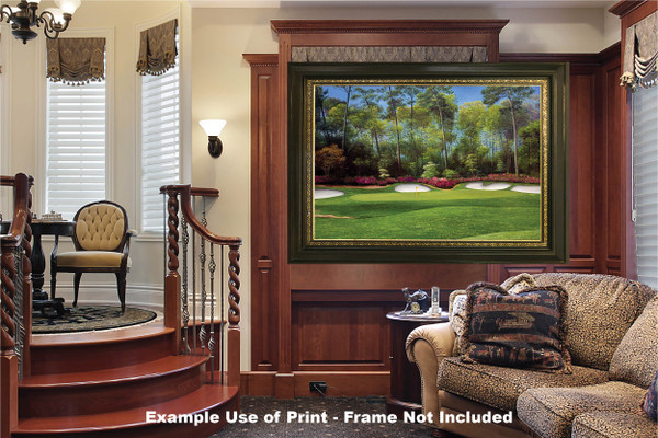 Augusta National Golf Club Masters Tournament Hole 13 Magnolia golf course oil painting art print 2550 Art Print luxury room example