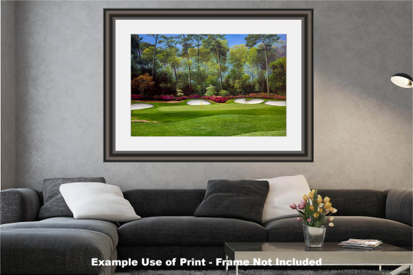 Augusta National Golf Club Masters Tournament Hole 13 Magnolia golf course oil painting art print 2550 Art Print modern living room example