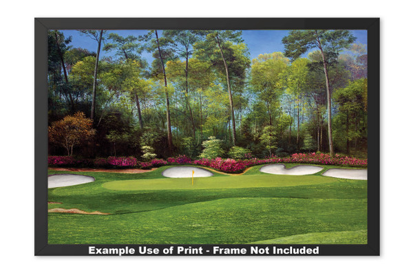 Augusta National Golf Club Masters Tournament Hole 13 Magnolia golf course oil painting art print 2550 Art Print framed example
