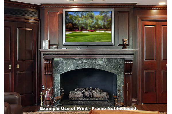 Augusta National Golf Club Masters Tournament Hole 13 Magnolia golf course oil painting art print 2550 Art Print framed print over fireplace example