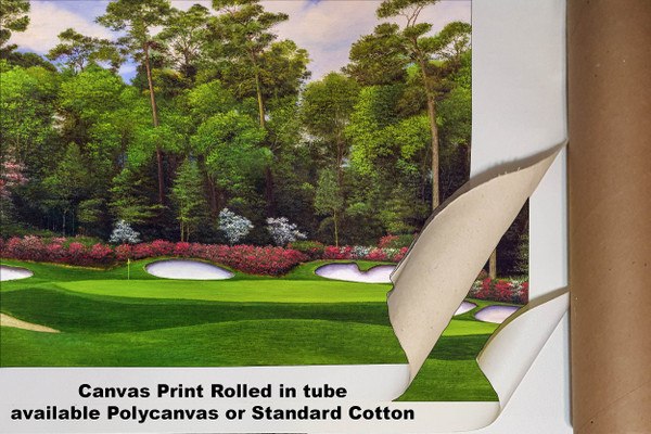 Augusta National Golf Club Masters Tournament Hole 13 Magnolia golf course oil painting art print 2560 Art Print available as canvas rolled