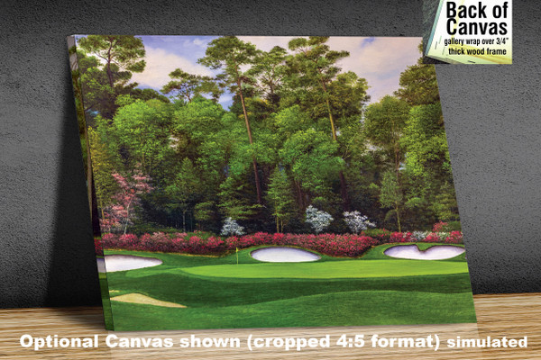 Augusta National Golf Club Masters Tournament Hole 13 Magnolia golf course oil painting art print 2560 Art Print available as canvas frame
