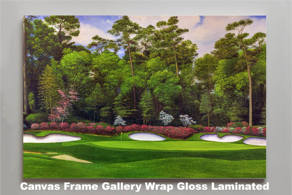 Augusta National Golf Club Masters Tournament Hole 13 Magnolia golf course oil painting art print 2560 Art Print canvas frame gallery wrapped