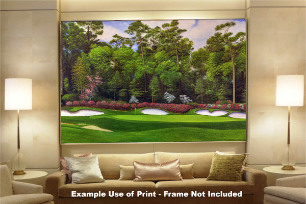 Augusta National Golf Club Masters Tournament Hole 13 Magnolia golf course oil painting art print 2560 Art Print available as huge canvas frame in living room