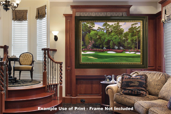 Augusta National Golf Club Masters Tournament Hole 13 Magnolia golf course oil painting art print 2560 Art Print luxury room example