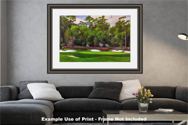 Augusta National Golf Club Masters Tournament Hole 13 Magnolia golf course oil painting art print 2560 Art Print modern living room example