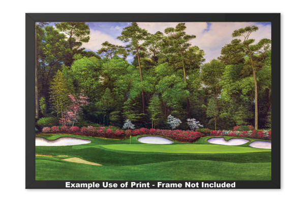 Augusta National Golf Club Masters Tournament Hole 13 Magnolia golf course oil painting art print 2560 Art Print framed example