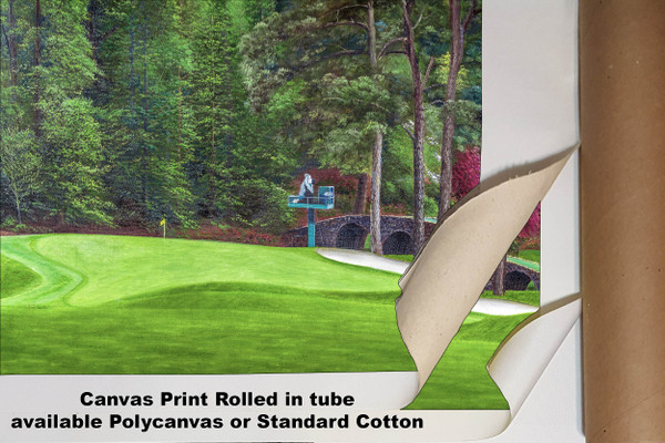 Augusta National Golf Club Masters Tournament Hole 11 White Dogwood golf course oil painting art print 2550 Art Print available as canvas rolled