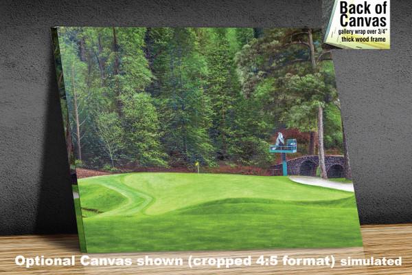 Augusta National Golf Club Masters Tournament Hole 11 White Dogwood golf course oil painting art print 2550 Art Print available as canvas frame