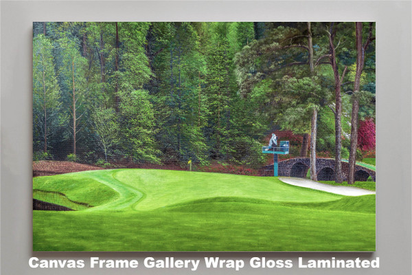 Augusta National Golf Club Masters Tournament Hole 11 White Dogwood golf course oil painting art print 2550 Art Print canvas frame gallery wrapped