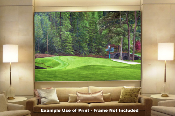 Augusta National Golf Club Masters Tournament Hole 11 White Dogwood golf course oil painting art print 2550 Art Print available as huge canvas frame in living room