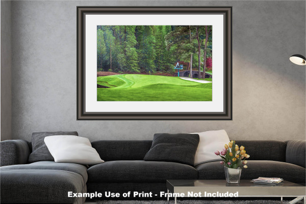 Augusta National Golf Club Masters Tournament Hole 11 White Dogwood golf course oil painting art print 2550 Art Print modern living room example