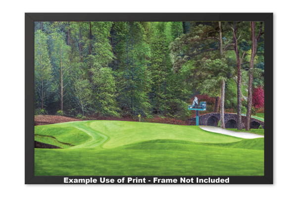 Augusta National Golf Club Masters Tournament Hole 11 White Dogwood golf course oil painting art print 2550 Art Print framed example