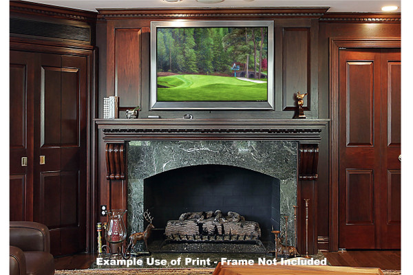 Augusta National Golf Club Masters Tournament Hole 11 White Dogwood golf course oil painting art print 2550 Art Print framed print over fireplace example