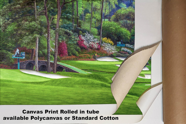 Augusta National Golf Club Masters Amen Corner Holes 11 12 Golden Bell Art golf course oil painting art print 2580 Art Print available as canvas rolled