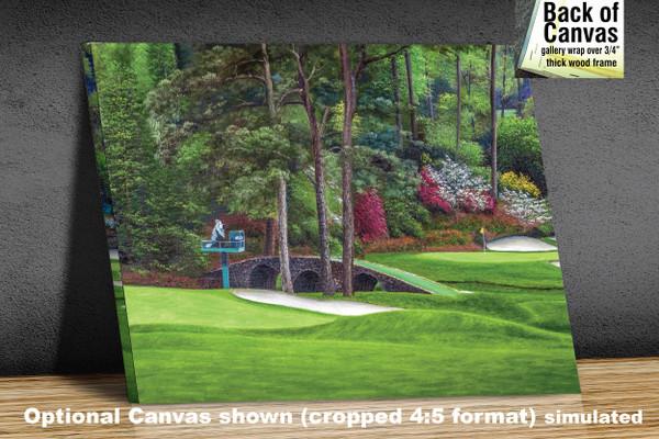 Augusta National Golf Club Masters Amen Corner Holes 11 12 Golden Bell Art golf course oil painting art print 2580 Art Print available as canvas frame