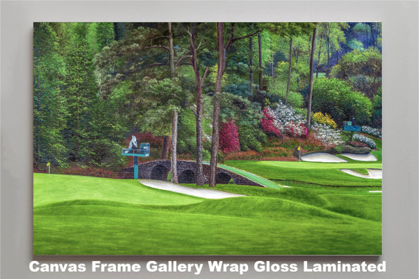 Augusta National Golf Club Masters Amen Corner Holes 11 12 Golden Bell Art golf course oil painting art print 2580 Art Print canvas frame gallery wrapped