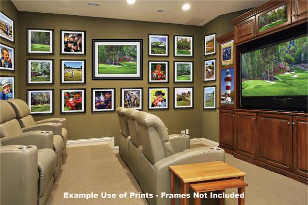 Augusta National Golf Club Masters Amen Corner Holes 11 12 Golden Bell Art golf course oil painting art print 2580 Art Print media room example