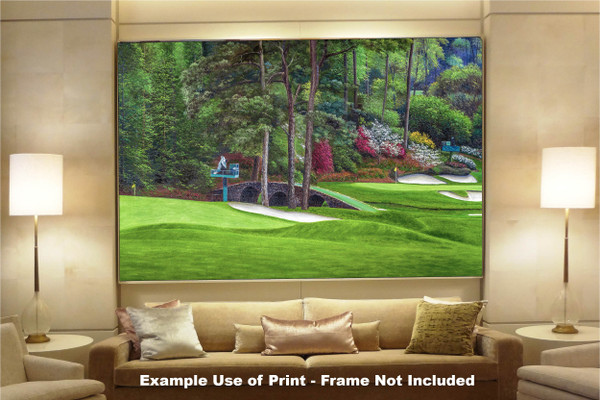 Augusta National Golf Club Masters Amen Corner Holes 11 12 Golden Bell Art golf course oil painting art print 2580 Art Print available as huge canvas frame in living room