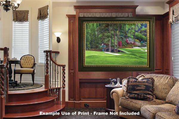 Augusta National Golf Club Masters Amen Corner Holes 11 12 Golden Bell Art golf course oil painting art print 2580 Art Print luxury room example